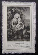 """Belle Image Religieuse De Type Canivet  """"La Divine Pureté"""" à Dater - Religion & Esotericism"""