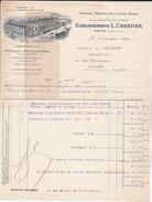 FACTURE + Enveloppe Des Ets  L. CHARTIER - Fonderie Et Manufacture De Cuivre & Bronze - à  MACON  (71) - France