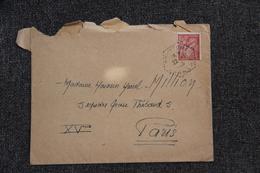 Enveloppe Timbrée De COURCOME à PARIS - Lettres & Documents