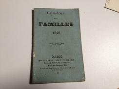 CALENDRIER Des Familles, 1846 - Calendriers