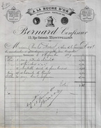Facture De BERNARD Confiseur - A LA RUCHE D'OR à Montpellier à Mr Charles AURIOL - Daté 03.11.1899 Et Signée - BE - France