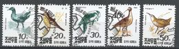 Korea, Democratic People's Republic 1990. Scott #2957-61 (U) Birds, Oiseaux - Corée Du Nord