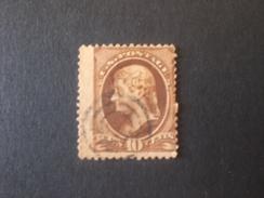 UNITED STATES EE.UU ÉTATS-UNIS US USA 1870 Jefferson Sepia Varieta Color Scott N.150 Perforation Moved - 1847-99 Emissioni Generali