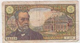 FRANCE 5 Francs Pasteur 8/1/1970 61/12 F.119 VG - 5 F 1966-1970 ''Pasteur''