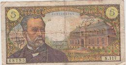 FRANCE 5 Francs Pasteur 8/1/1970 61/12 N.117 VG - 5 F 1966-1970 ''Pasteur''