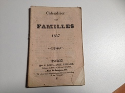 CALENDRIER Des Familles, 1847 - Calendriers