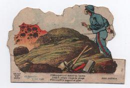 Militaria/découpage/Scéne De Déminage / Soldats Français/ Pro Patria/ Recto-Verso/ Vers1910-20           DEC42 - Autres