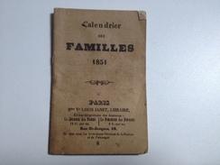 CALENDRIER Des Familles, 1851 - Calendriers