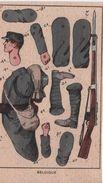 Militaria/découpage/Belgique / Soldat Belge / Uniforme équipement & Armes/ Vers1910-20           DEC43 - Autres