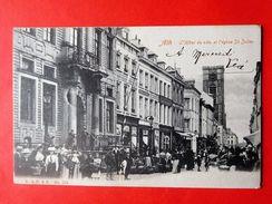 Ath 1904  L'Hôtel De Ville Et L'église St Julien / Marché Braderie - Ath