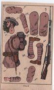 Militaria/découpage/Italie / Soldat Italien  / Uniforme équipement & Arme/ Vers1910 - 20                DEC45 - Autres