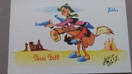 CPSM WALT DISNEY PECOS BILL CHEVAL COW BOY  CHOCOLAT TOBLER - Autres