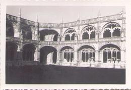 PHOTO PORTUGAL CLOITRE DE SAN JERONIMO FEVRIER 1949 9 X 6 CM - Lieux