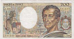 FRANCE 200 Francs 1986 70/6 A.038 VF- - 1962-1997 ''Francs''