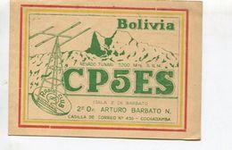 QSL CARD - CP5ES COCHABAMBA, BOLIVIA/BOLIVIE- RADIOAFICIONADOS/RADIO HAM - CIRCA 1956 - BLEUP - Radio Amateur