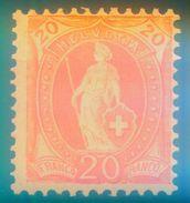 Nr. 58 YD Postfrisch Michel Mindestens 65 € Stehende Helvetia - 1882-1906 Wappen, Stehende Helvetia & UPU
