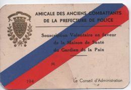 Préfecture De Police/Amicale Des Anciens Combattants/Maison De Santé Des Gardiens De La Paix/ Paris/Vers 1940     AEC92 - Unclassified