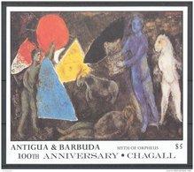Antigua - 1987 Marc Chagall Block (2) MNH__(TH-4817) - Antigua Y Barbuda (1981-...)