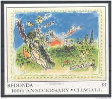 Redonda - 1987 Marc Chagall Block (1) MNH__(TH-9041) - Antigua And Barbuda (1981-...)