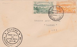 1962 NOUVELLES HEBRIDES USED COVER WITH TWO STAMPS. - Francobolli