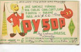 QSL CARD - PY5DP PARANA, BRASIL/BRAZIL/BRESIL - RADIOAFICIONADOS/RADIO HAM - CIRCA 1954 - BLEUP - Radio Amateur