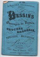Fascicule/ Dessins Pour Ouvrages De Dames/Rouyer Dessinateur/Crochet, Broderie/Rue St Denis/Paris /Vers1870-80     MER45 - Laces & Cloth