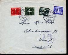 A4910) Niederlande Brief Von Rotterdam 23.12.46 Nach Wien Mit Zensur - 1891-1948 (Wilhelmine)