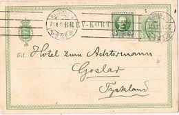 25579. Entero Postal KJOBENHAVN (Danmark) 1910 To Goslar - Postal Stationery