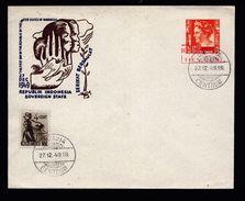 A4911) Niederl. Indien Ganzsache-Karte Von Batavia 27.12.49 - Niederländisch-Indien