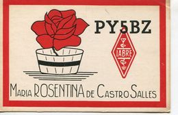 QSL CARD - PY5BZ BLUMENAU, BRASIL/BRAZIL/BRESIL - RADIOAFICIONADOS/RADIO HAM - CIRCA 1956 - BLEUP - Radio Amateur