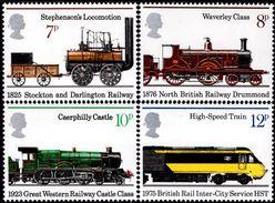 Great Britain - 1975 -150th Anniversary Of First Train - Mint Stamp Set - 1952-.... (Elizabeth II)