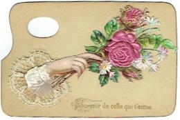 Joli Découpi & Dentelle. Fleurs Sur Palette De Peintre. - Découpis
