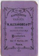 Fascicule/ Alphabets Variés/N Alexandre & Cie Dessinateurs/Broderies/Rue St Martinl/Paris /Vers 1870-80   MER47 - Dentelles Et Tissus