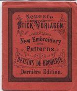 Fascicule/Neueste/Stick-Vorlagen/New Embroidery/Patterns//Dessins De Broderie/Dernière Edition/vers 1870-80        MER48 - Laces & Cloth