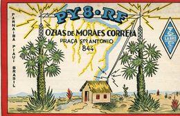 QSL CARD - PY8RF PARNAIBA, PIAUI, BRASIL/BRAZIL/BRESIL - RADIOAFICIONADOS/RADIO HAM - CIRCA 1954 - BLEUP - Radio Amateur