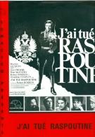 "Dossier Presse Publicitaire Cinéma Scénario  ""J'ai Tué Raspoutine""  Robert Hossein Géraldine Chaplin 1966 - Pubblicitari"