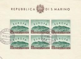 FOGLIETTO SAN MARINO 1961 EUROPA TIMBRATO (BF82 - Blocchi & Foglietti