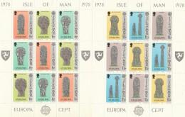 LOTTO 2 FOGLIETTI NUOVI ISLE OF MAN EUROPA 1978 (BF177 - Isola Di Man