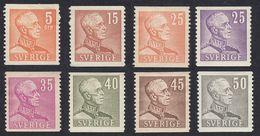 SWEDEN - SVEZIA - SVERIGE -  Lotto 8 Valori Nuovi MH: Yvert 261, 261B, 263, 264, 265, 265A, 333 E 335. - Svezia