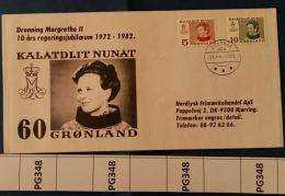 BUSTA FDC GROENLANDIA 1982 (PG348 - Postmarks