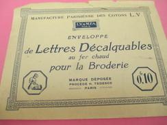 Manufacture Parisienne Des Cotons LV/Enveloppes De Lettres Décalquages Au Fer à Chaud/Broderie/Paris/vers 1920-30  MER51 - Encajes Y Tejidos