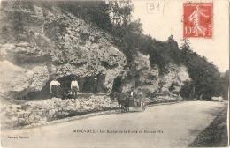 ----91 ----- MEREVILLE  Les Roches De La Route De Monnerville - TTBE - Mereville