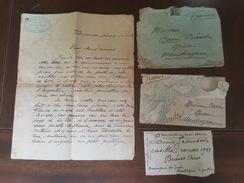 Buenos Aires à Montsuzain 1913 Lettres Et Enveloppes - TP - Tampon Automobiles De Alquiler Jeanson Luis - Argentine