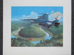 Photo AVION  F-16 FOR THE ROYAL BELGIAM AIR FORCE - Par Bob CUNNINGHAM  - Belgique -     (4394) - Aviation