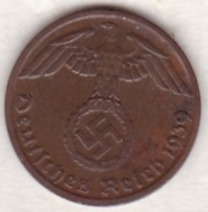 1 Reichspfennig 1939 D (MUNICH). Bronze - [ 4] 1933-1945 : Tercer Reich