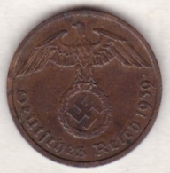 2 Reichspfennig 1939 F (STUTGART) .  Bronze - [ 4] 1933-1945 : Troisième Reich