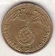 5 Reichspfennig 1938  F (STUTGART) .   Bronze-aluminium - [ 4] 1933-1945 : Third Reich