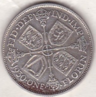Grande Bretagne. One Florin 1930. George V ,en Argent - 1902-1971 : Monnaies Post-Victoriennes