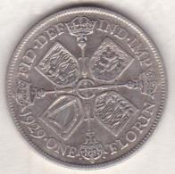 Grande Bretagne. One Florin 1929. George V ,en Argent - 1902-1971 : Post-Victorian Coins