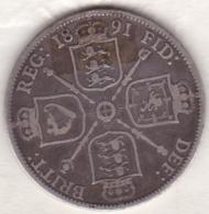 Grande Bretagne. One Florin 1891. Victoria ,en Argent - 1816-1901 : Frappes XIX° S.